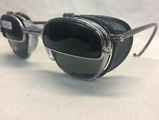 NOS AO GLASSES METAL FLIP UP / SHIELDS DARK GRAY LENS SAFETY WELDING CUSTOM!!!