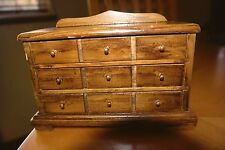 Miniature Doll House Bedroom Dresser Drawer 3 Pull Out Drawers