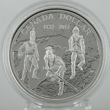 Canada 2012 $1 War of 1812 200th Anniversary 99.99% Pure Silver Proof