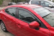 Premium Weather Shields Weathershields Window Visors for Mazda 3 sedan 13-17 (T)