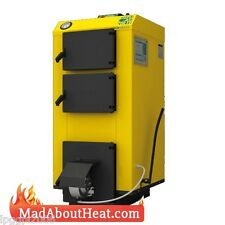 WBI 35KW Fan Assisted Multi Fuel Boiler can burn waste wood shrubs cardboard