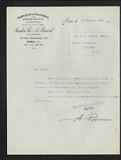 """PARIS (XI°) USINE de CUIVRERIE pour AMEUBLEMENT """"JARDIN Fils & A. PLNARD"""" 1919"""