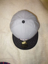 MENS BASEBALL HAT CAP FLYING COFFIN LOGO NEW ERA NE FITTED 59FIFTY 7 3/8 GRAY