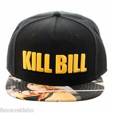 Miramax Kill Bill Embroidered Logo Sublimated Flatbill Snapback Cap Hat