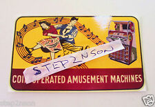 Seeburg V Jukebox Waterslide Decal Juke Box 1950,s U.S.A. Coin Amusement