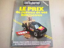 """REVUE  """" L' AUTO JOURNAL """" N° 1  ANNEE  1982  *"""
