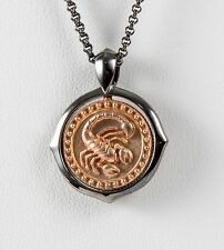 Stephen Webster Gold Pl Sterling Silver Scorpio Pendant w/chain Necklace Zodiac