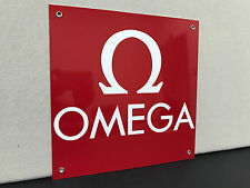 Omega watches advertising wall sign baked