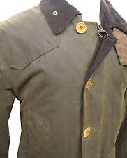 Barbour Mens Cullen Wax Jacket in Olive - Size XL