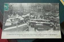 AK 2e exposition de locomotion aérienne Paris 1910 Grand palais stand CGNA