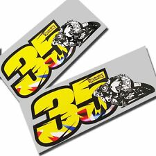 Cal Crutchlow 35 ART  motorcycle decals custom graphics x 2