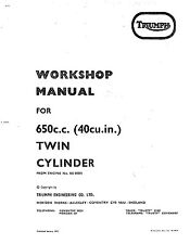 Triumph workshop service manual 1971 & 1972 TR6RV Tiger 650 (5 Speed)