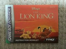 El Rey León-Game Boy Advance Gba Solo Manual De Instrucciones