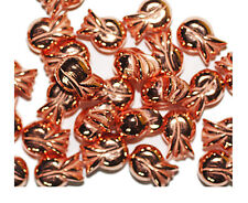 Tulip Flower 12mm Shiny Bright Copper Metalized Metallic Beads