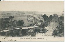 CPA -80 - POIX - Viaduc et Route d' Abbeville