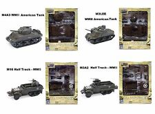NEWRAY New Ray Toys 1:32 CLASSIC TANK MODEL KIT ASSORTMENT 4 Piece Set