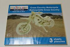CREATOLOGY 3D WOODEN PUZZLE MOTORCYCLE NEW