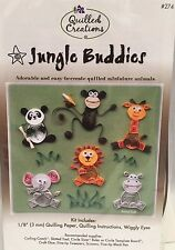 New Quilled Creations Jungle Buddies Quilling Kit Hobby And Crafting