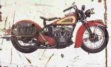 Indian Sport Scout 1939 Aged Vintage SIGN A4 Retro