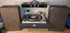General Electric Vintage Portable Phonograph Record Player Stereophonic GE
