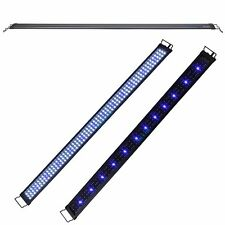 "48""-60"" White&Blue LED Light Extendable Bracket 2 Mode Aquarium Fish Tank FOWLR"