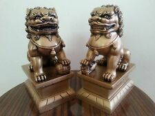 1Pair Chinese Feng Shui Foo Dogs Statue Lucky Wealth Figurine Gift & Home