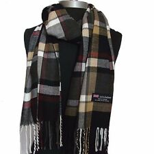 New 100% Cashmere Scarf Multi-Color check Plaid Scotland Wool Soft Unisex (Ctg06