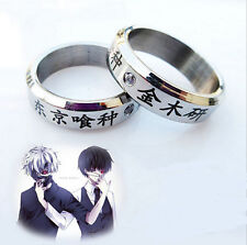 1pcs Cosplay Anime Tokyo ghoul Ken Kaneki Titanium steel ring rings