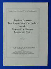 Catalogo La Filotecnica- Apparecchi Sezione Geodesia e Topografia - 1930 ca.