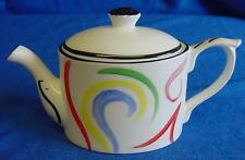 EMMA BAILEY ABSTRACT SWIRLS MINI TEAPOT - ENGLISH MADE STAFFORDSHIRE BONE CHINA