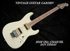 2009 USA Charvel San Dimas, Antique White, Maple neck, Floyd, Zebra Duncans case