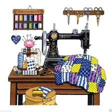 """Janlynn Counted Cross Stitch Kit 12"""" x 12"""" ~ ANTIQUE SEWING ROOM #017-0100 Sale"""