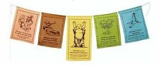 Prayer Flags in English Abundance Prosperity Pennant 5 Flag String Decor #PFA