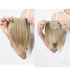 """New 8"""" As Human Hair Clips In Extensions Front Bang Fringe More Colors 30g/pcs"""