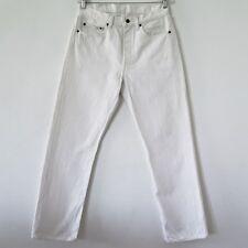 VINTAGE ORIGINAL 1990's LEVIS 501 JEANS WHITE W33 L30 33X30