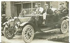 1913  automobile  Decker Reunion  Old Antique Vintage Photo Real Postcard  RPPC