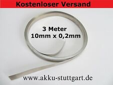 3 Meter 10mm x 0.2mm Nickel Akkuverbinder Lötfahnen Lötbrücken Hiluminband