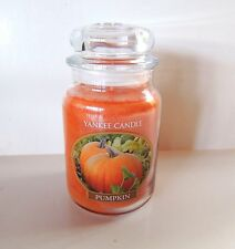Yankee Candle Pumpkin Large 22 oz. Jar Candle Fall New Unlit USA 110-150 Hr