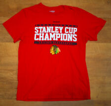 Reebok Chicago Blackhawks 'Stanley Cup Champions 2015 T Shirt (Size M)