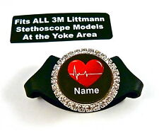 STETHOSCOPE ID TAG, BLING, FITS ALL LITTMANN MODELS,MEDICAL,NURSE,RN,EMS,ER,EMT