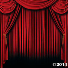 RED CURTAIN PHOTO BACKDROP MOVIE NIGHT PARTY DECORATION RED CARPET HOLLYWOOD NEW