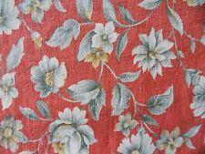 """WtW Fabric Floral Flower Garden Vintage  1 yd  50"""" W Decor Linen Quilt"""