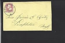 NEW BERNE, NORTH CAROLINA COVER,#65 VF, LEMON COVER TO MASSACHUSETTS.