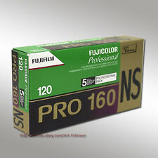 5 Rolls FUJI Pro 160NS 120 Color Print Professional film Fresh