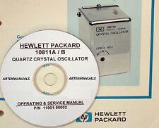 HP 10811A 10811B Quartz Oscillator: Operating & Service  Manual