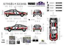 [FFSMC Productions] Decals 1/18 Citroën CX 2400 GTi Acropolis Rally 1978