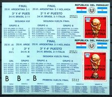 5x Paraguay 1978 Fußball WM Soccer FIFA Block 329 ** KW €200