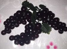 """6 Purple Grape Bunch On Stem For First Communion Favors Or Centerpieces, 4"""" Long"""
