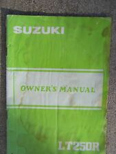 1984 Suzuki LT250R Off Road ATV Owner Manual MORE SUZUKI ITEMS IN OUR STORE  S