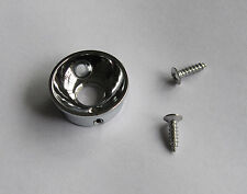 "Electric Guitar Jack 1/4"" Electrosocket Jack Plate for Tele Telecaster Chrome"